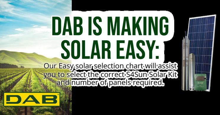 Easy Solar Selection Chart
